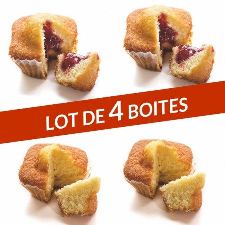 Lot 4 boites quatre-quarts
