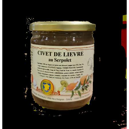 Civet de Lièvre au Serpolet